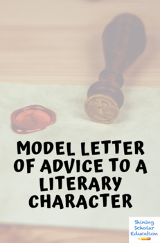 Letter of advice to character in literature (Model)
