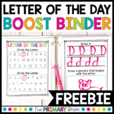 Letter of the Day Activity   Reading Boost Binder FREEBIE