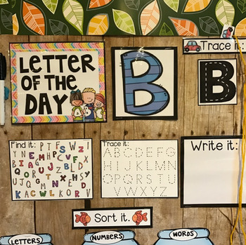 Letter of the Day Calendar Companion Uppercase and Lowercase