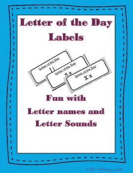 Letter of the Day Labels