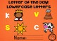 Letter of the Day: Lowercase Letters