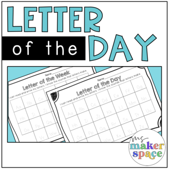 Letter of the Day Recording Page