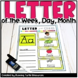 Letter of the Day, Week, & Month Posters + Word Wall Cards