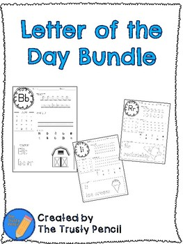 Letter of the Day Worksheets - Trace, Write, Read, & Color