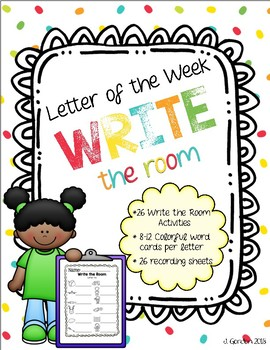 Letter of the Week - 26 Write the Room activities