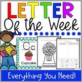 Alphabet Worksheets A-Z - Letter of the Week A-Z FULL BUNDLE