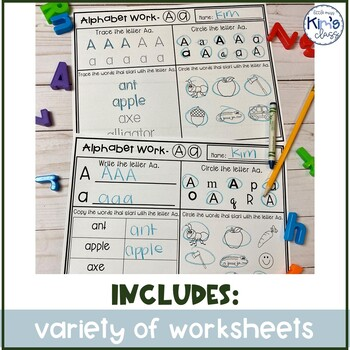 Letter of the Week Work Worksheets Differentiated!