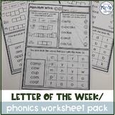Letter of the Week / Phonics Worksheet Pack