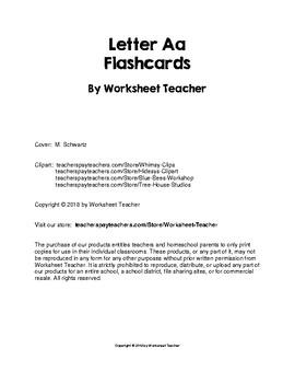 Letter of the Week Aa Pre-K Worksheet Pack