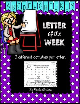 Letter of the Week Activities