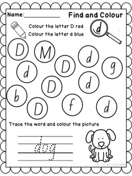 Letter of the Week Activity Sheets D