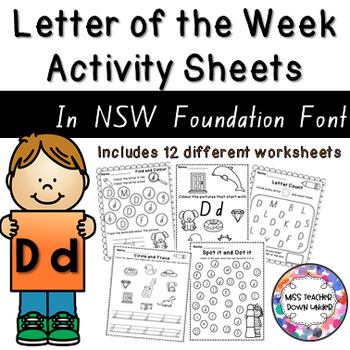Letter of the Week Activity Sheets: Letter D