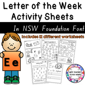 Letter of the Week Activity Sheets E