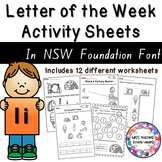 Letter of the Week Activity Sheets: Letter I