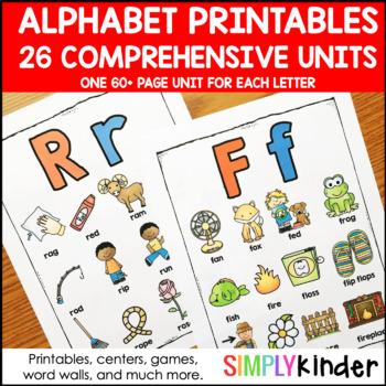 Letter of the Week, Alphabet Printables, Alphabet Activities