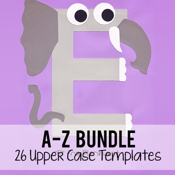 Alphabet Art Bundle, Upper A-Z