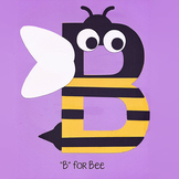 Alphabet Art Craftivity, Upper B (Bee)