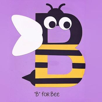 Alphabet Art Craftivity, Upper B (Bee)