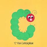 Alphabet Art Craftivity, Upper C (Caterpillar)