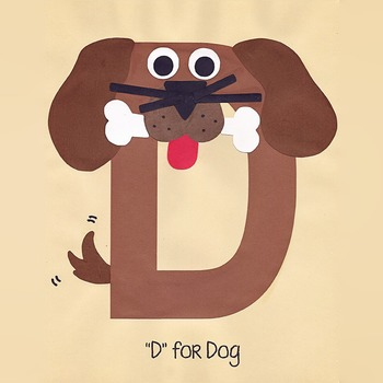 Alphabet Art Craftivity, Upper D (Dog)