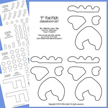 Alphabet Art Craftivity, Upper F (Fish)
