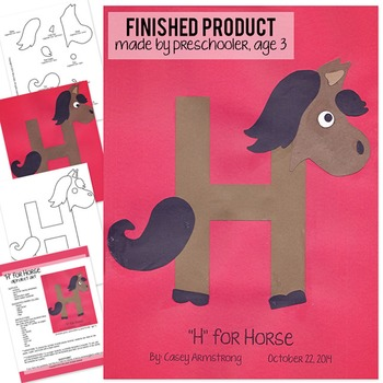 Alphabet Art Craftivity, Upper H (Horse)