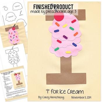 Alphabet Art Craftivity, Upper I (Ice Cream)