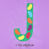 Alphabet Art Craftivity, Upper J (Jelly Beans)