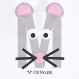 Alphabet Art Craftivity, Upper M (Mouse)