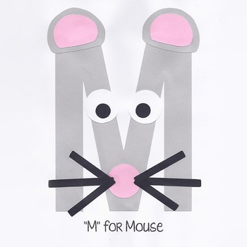 Alphabet Art Craftivity, Upper M (Mouse)