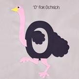 Alphabet Art Craftivity, Upper O (Ostrich)