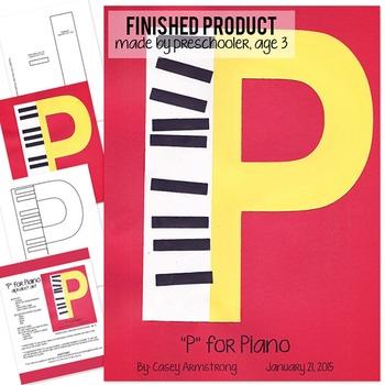 Alphabet Art Craftivity, Upper P (Piano)