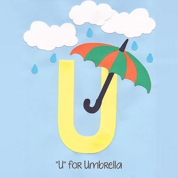 Alphabet Art Craftivity, Upper U (Umbrella)