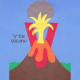Alphabet Art Craftivity, Upper V (Volcano)