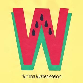 Alphabet Art Craftivity, Upper W (Watermelon)