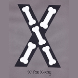 Alphabet Art Craftivity, Upper X (Xray)