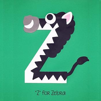 Alphabet Art Craftivity, Upper Z (Zebra)