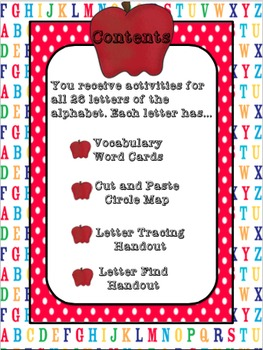 Letter of the Week, Alphabet Bundle, Letter Identification Packet