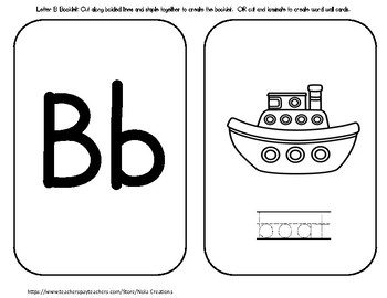 Letter of the Week - B- Activity Pack