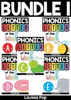 Alphabet Phonics Letter of the Week BUNDLE 1