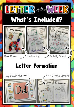 Letter of the Week - BUNDLE #1 A-F