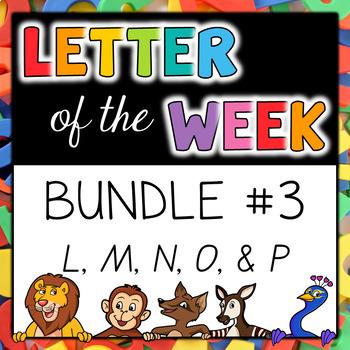 Letter of the Week - BUNDLE #3 L-P