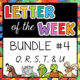Letter of the Week - BUNDLE #4 Q-U