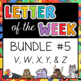 Letter of the Week - BUNDLE #5 V-Z