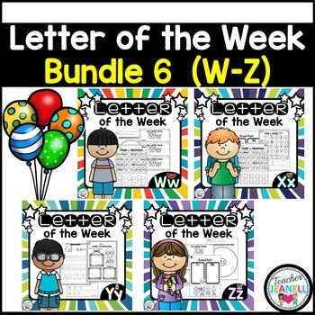 Letter of the Week BUNDLE 6 (W-Z)