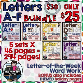 Letter-of-the-Week BUNDLE: Letters A-F