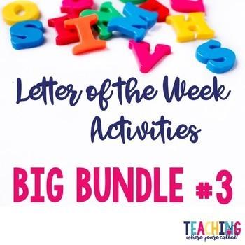 Letter of the Week Big Bundle #3