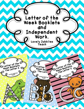 Letter of the Week Booklets and More Growing Bundle