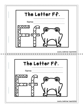 Letter of the Week Booklets and More: Letter F