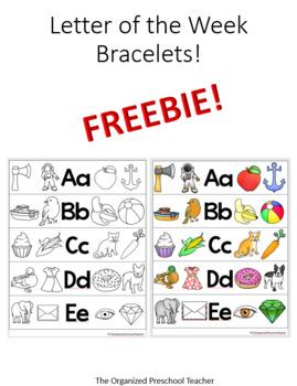 Letter of the Week Bracelet FREEBIE